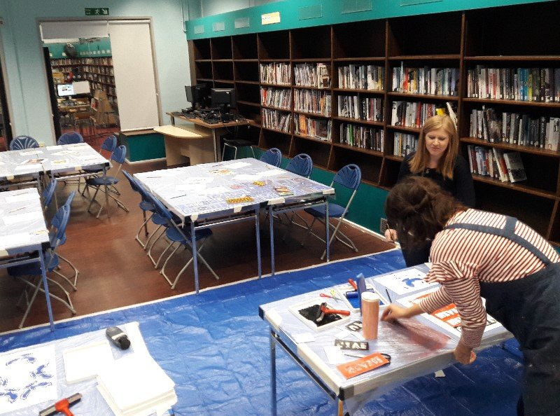 Mitcham-Arts-Space-Grafitti-Printmaking-with-Royal-Academy-of-Arts-2