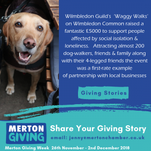 Merton Giving, Waggy Walk, Wimbledon Common, Wimblecomm, Fundraising, Wimbledon, Merton