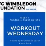 AFC Wimbledon Foundation Workout Wednesday Stay Active at Home